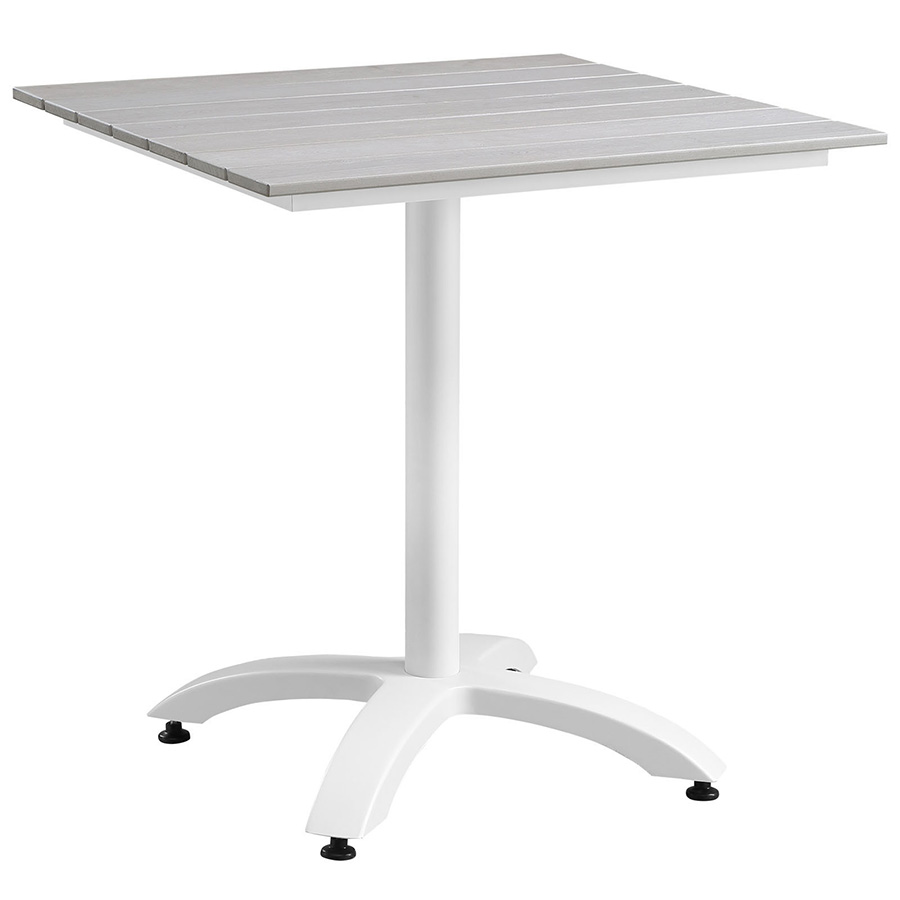 Murano White Modern Outdoor Patio Table