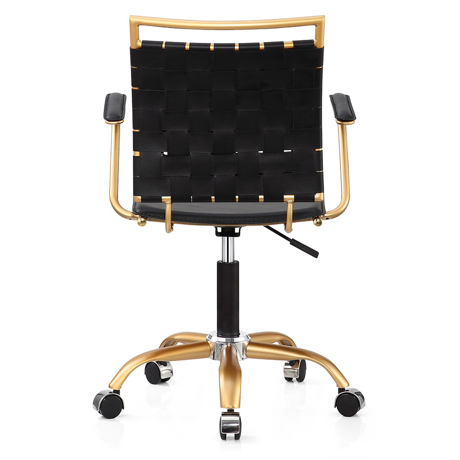 Murdoch Black + Gold Contemporary Office Chair