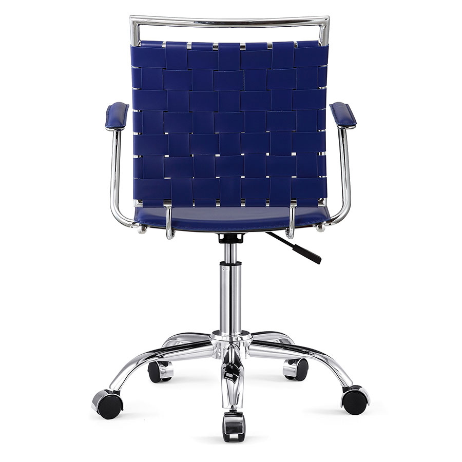 Murdoch Blue + Chrome Contemporary Office Chair