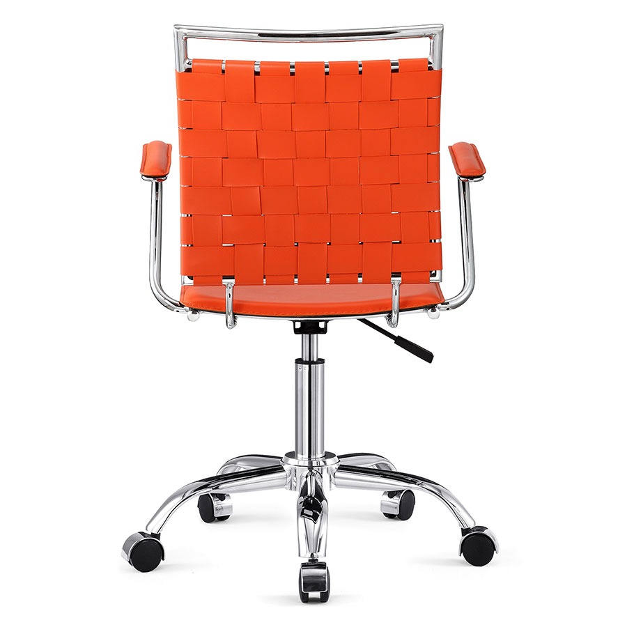 Murdoch Orange + Chrome Contemporary Office Chair