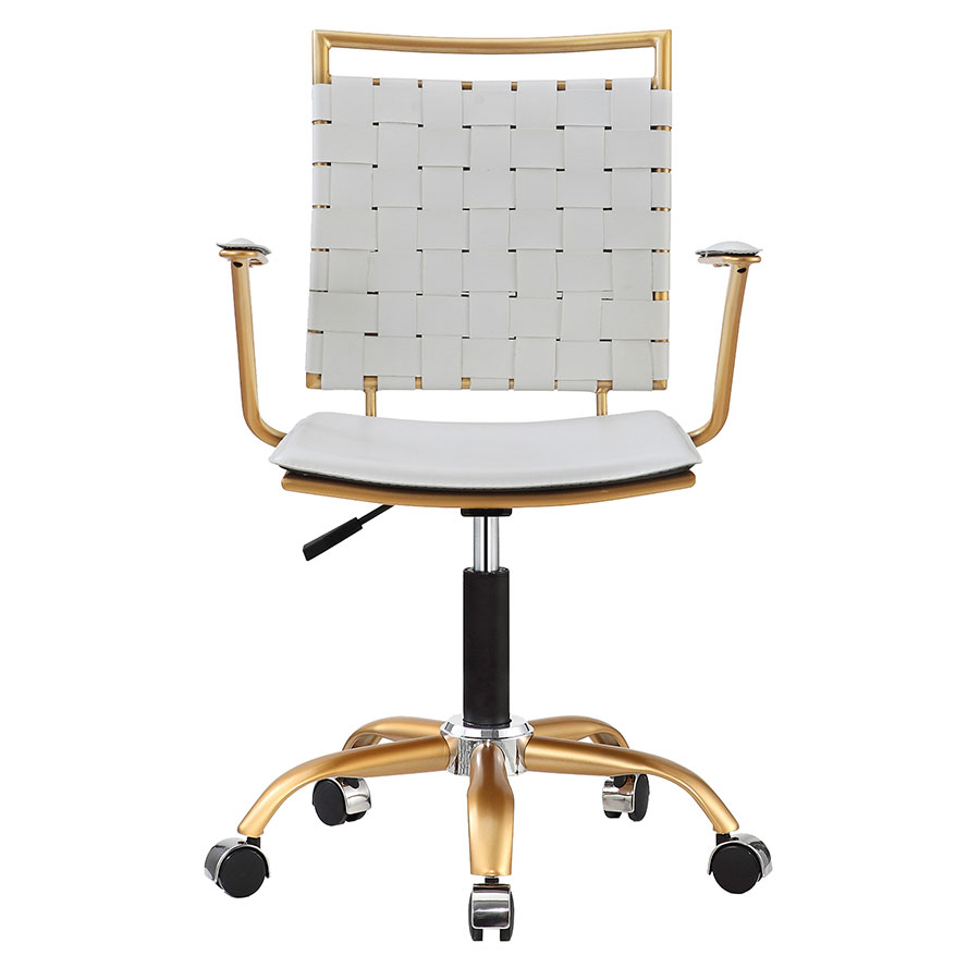 Murdoch White Contemporary Office Chair