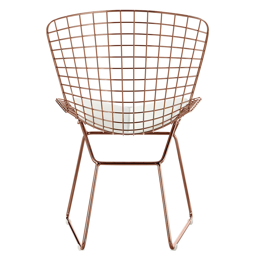 Murna Rose Gold + White Contemporary Side Chair