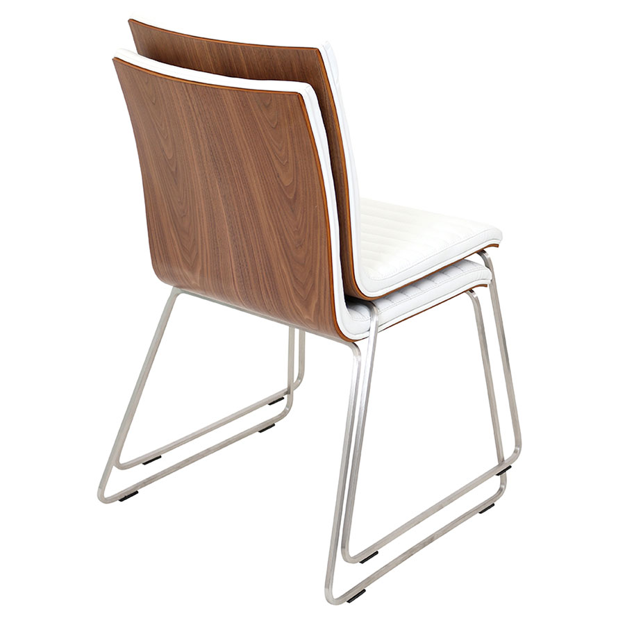 Murphy Contemporary Side Chair in White - Stacked