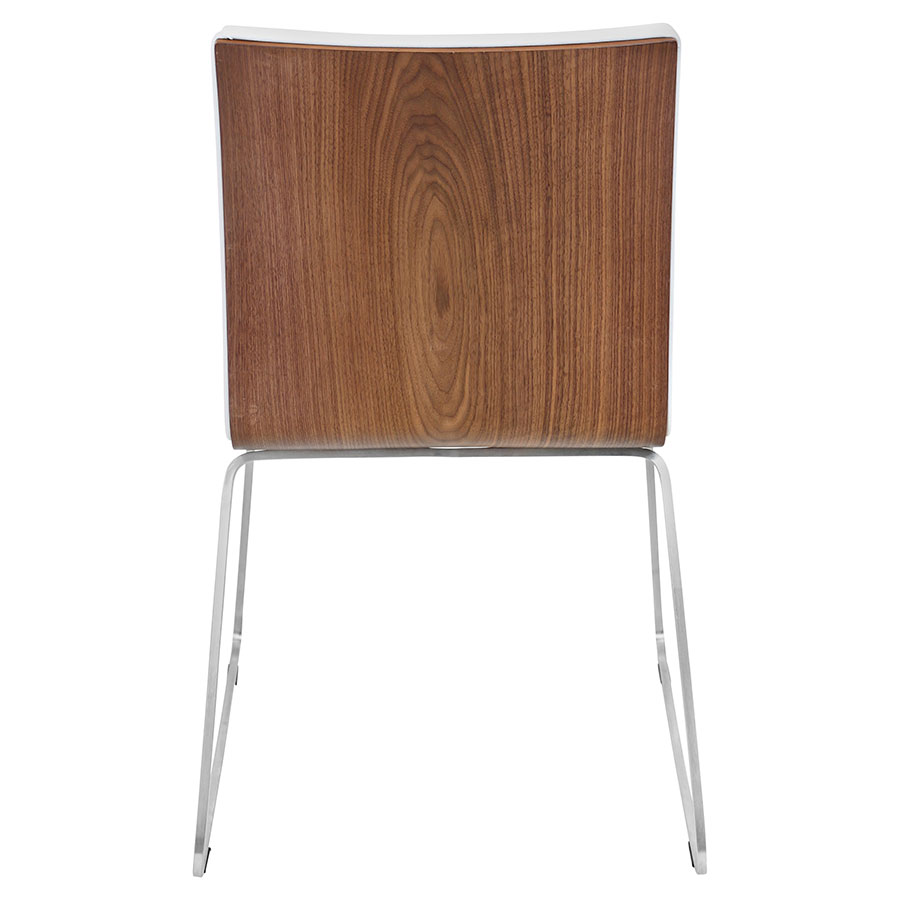 Murphy Modern Dining Chair in White - Back View