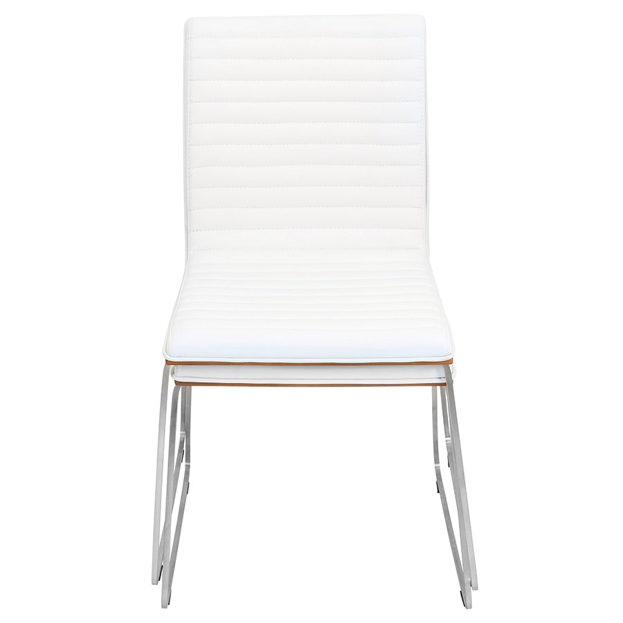 Murphy Modern Dining Chair in White - Front View
