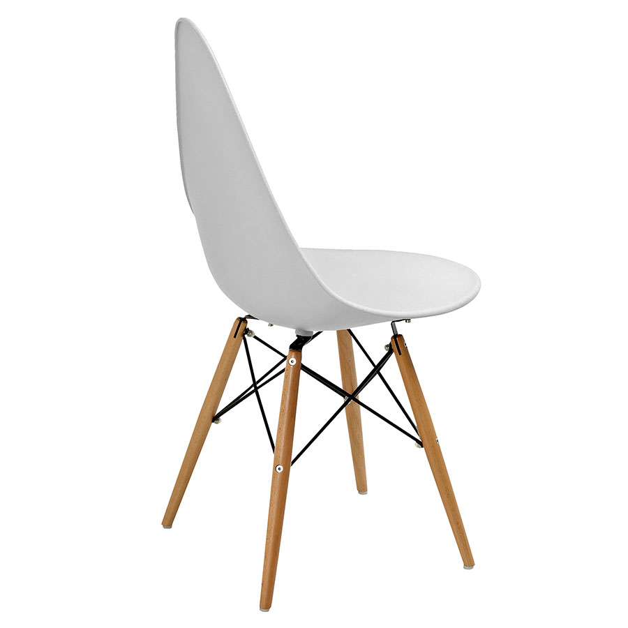 Myron Gray + Wood Contemporary Side Chair