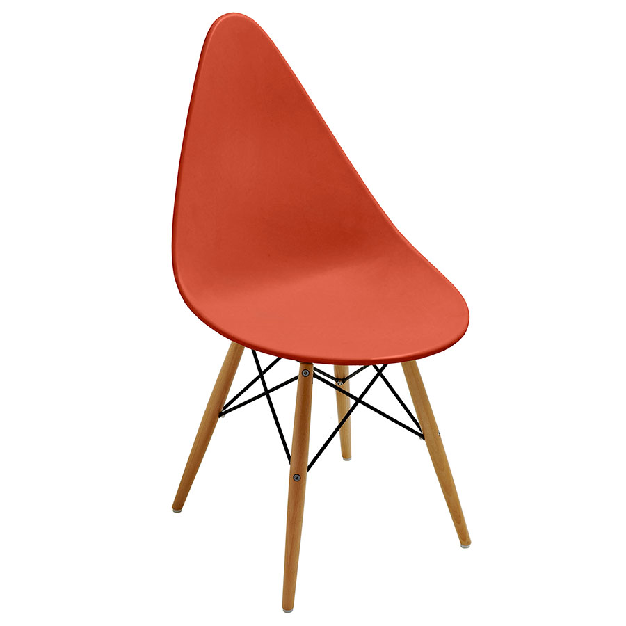 Myron Orange Modern Side Chair