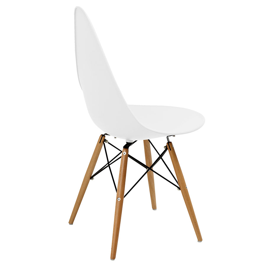 Myron White + Wood Contemporary Side Chair