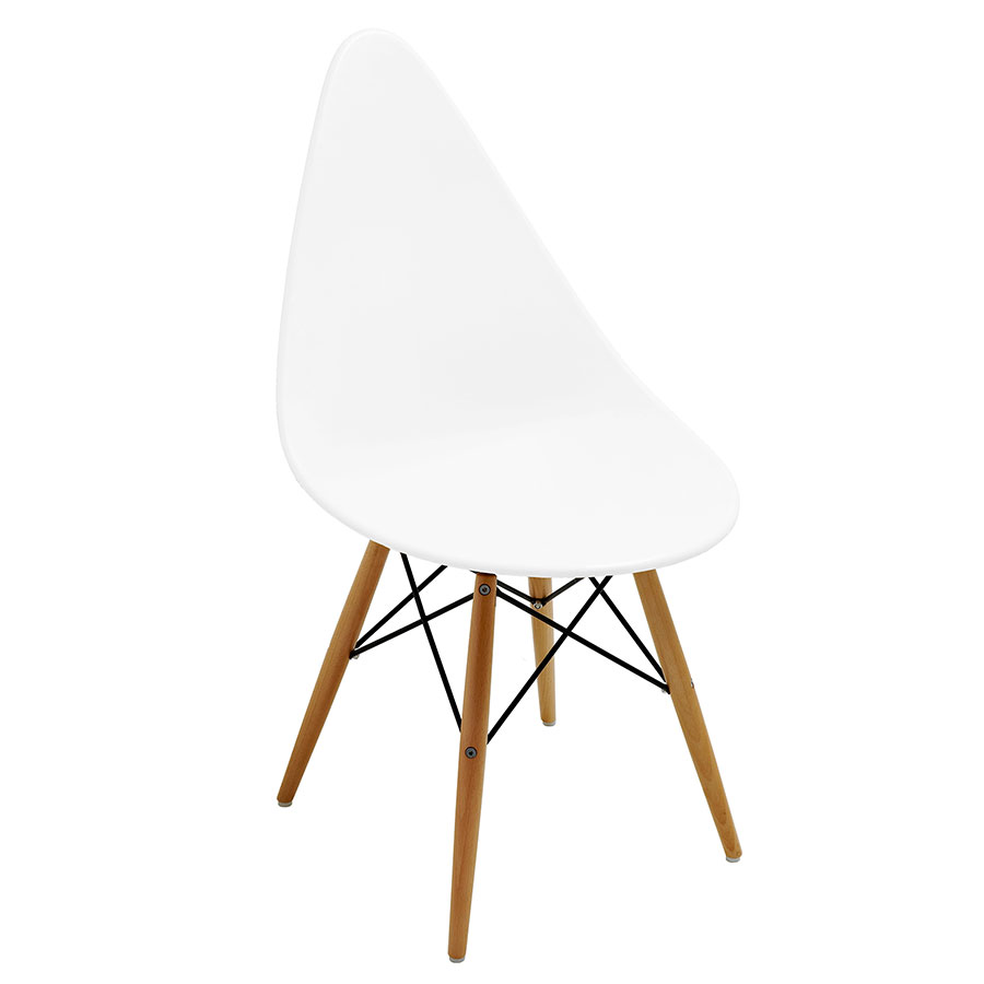 Myron White Modern Side Chair