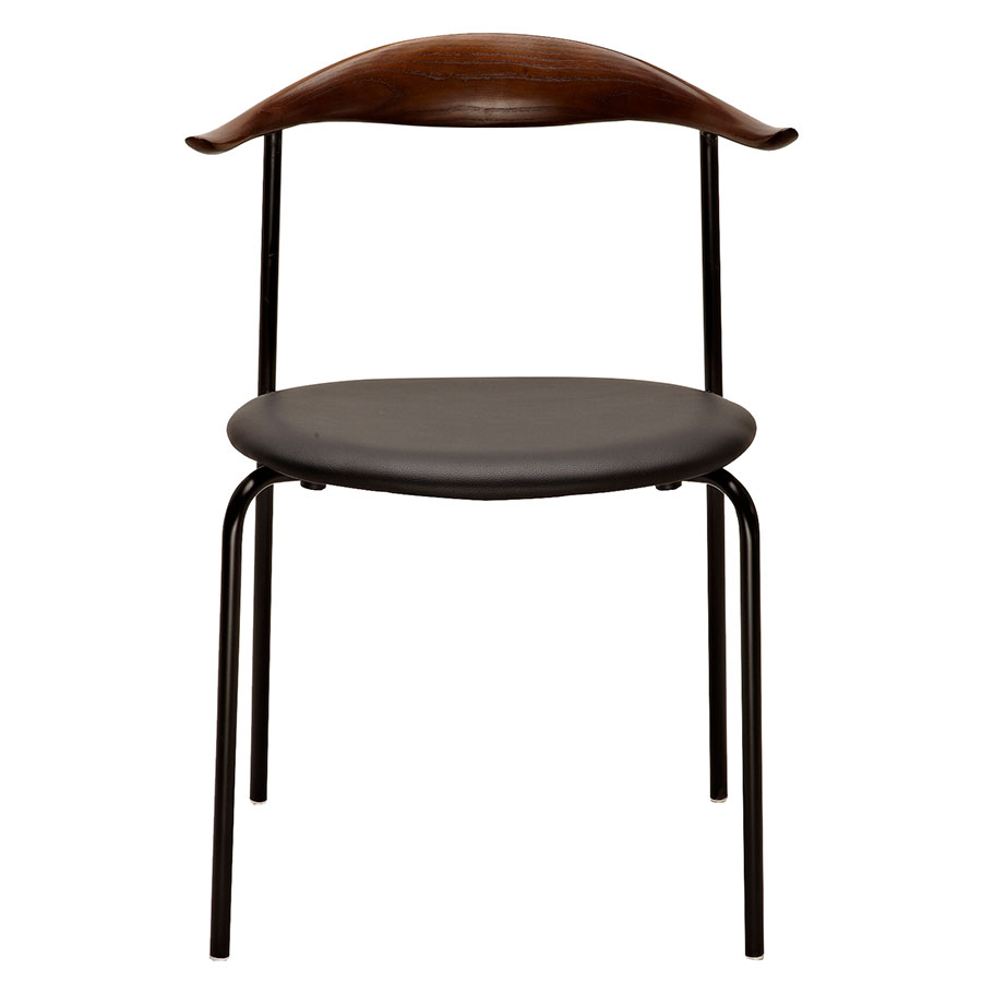 Myrtle Walnut Contemporary Side Chair