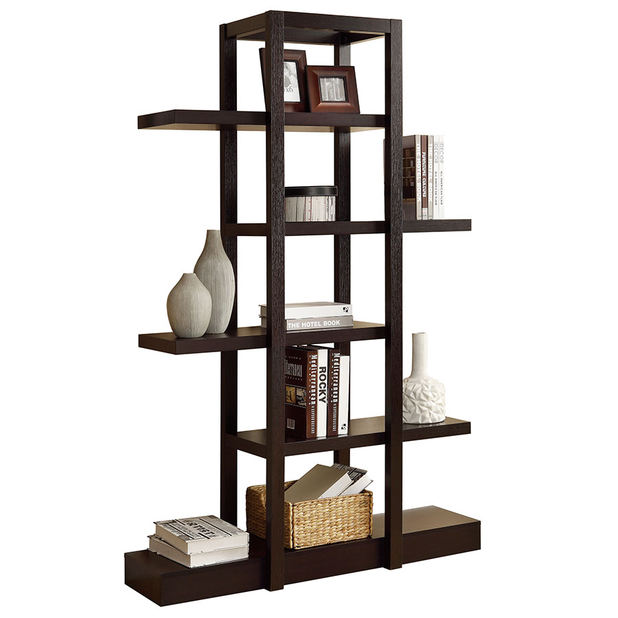 Nadia Modern Cappuccino Book Shelf