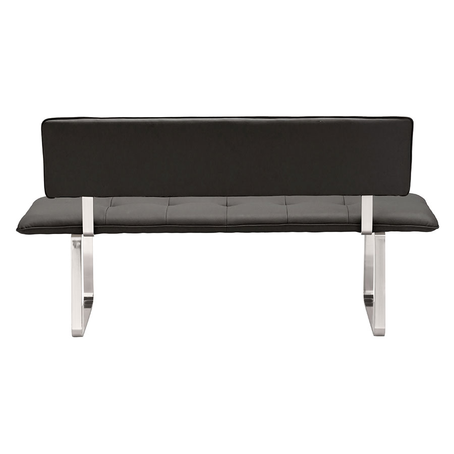 Nadia Black Contemporary Dining Bench Back