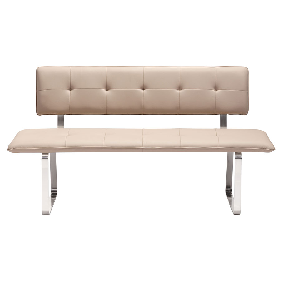 Nadia Taupe Contemporary Dining Bench