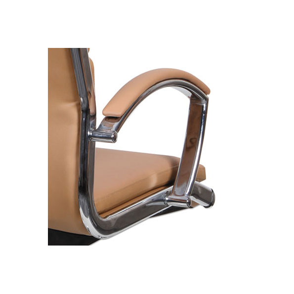Napoli Modern Camel-Colored Office Chair - Arm Detail