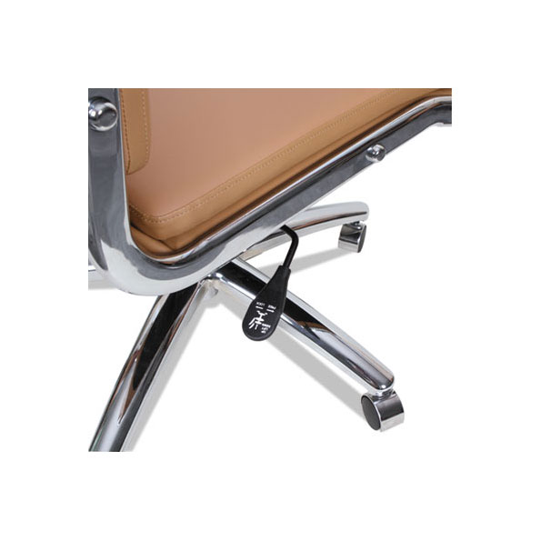 Napoli Modern Camel-Colored Office Chair - Arms Removed