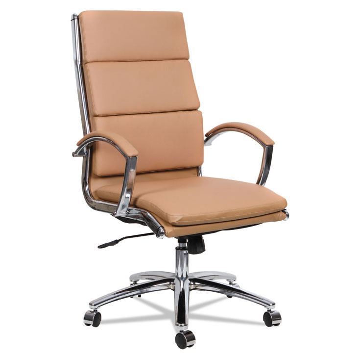 Napoli Modern High Back Camel Office Chair