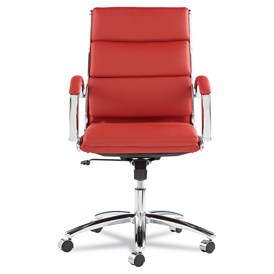 Napoli Red Mid Back Office Chair