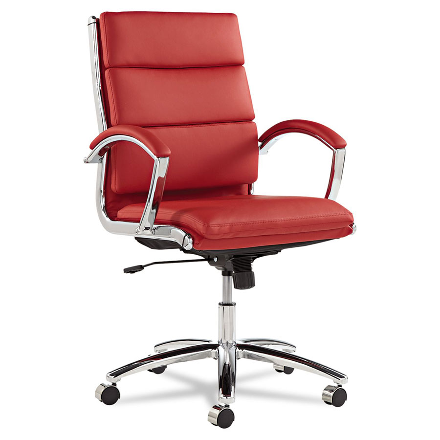 Napoli Red Modern Mid Back Office Chair