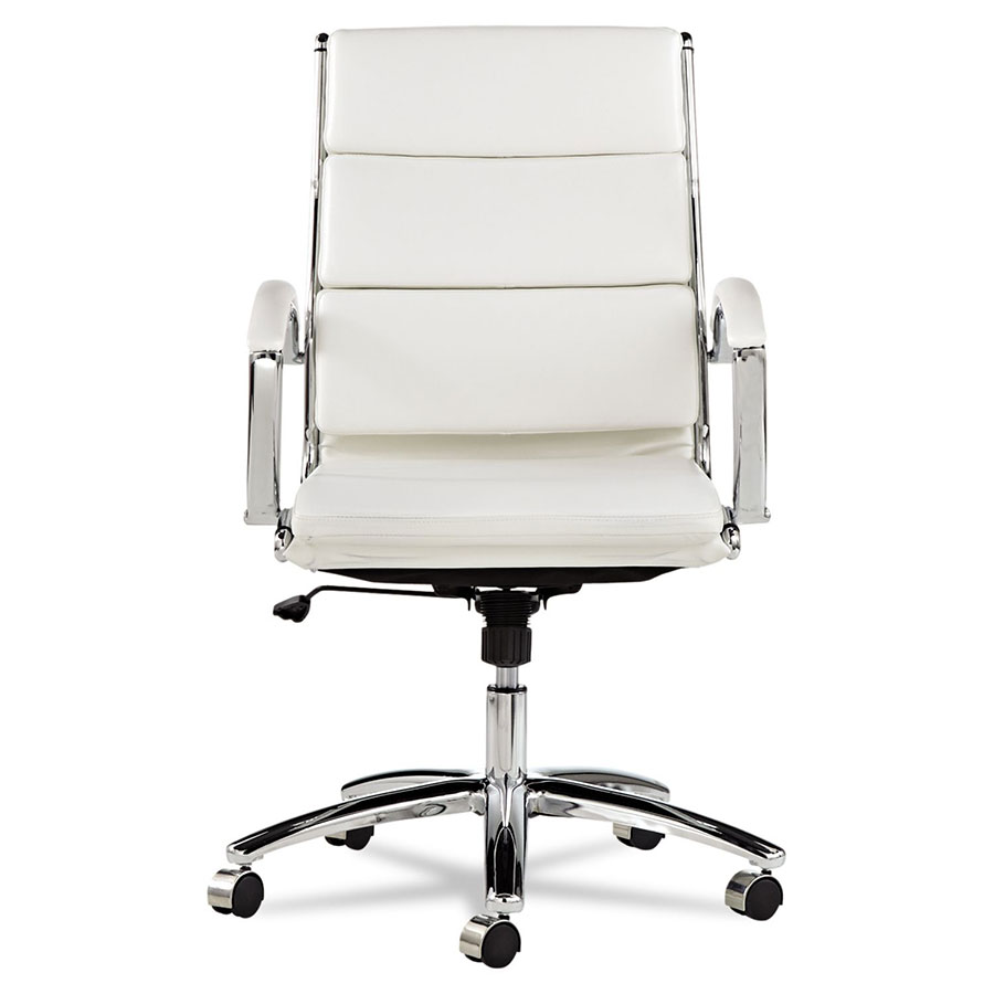Napoli White Mid Back Office Chair