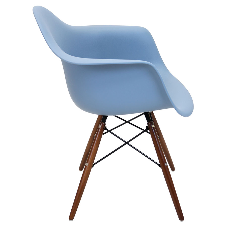 Nashua Blue + Espresso Modern Arm Chair