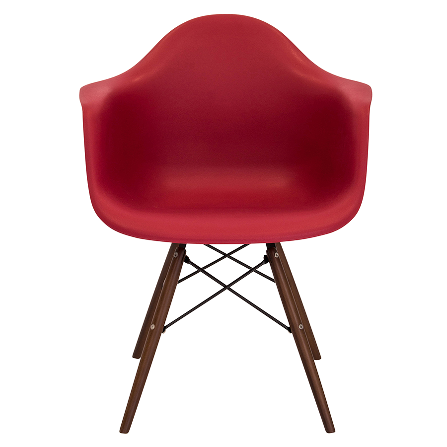 Nashua Red + Espresso Contemporary Arm Chair