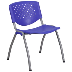 Nassau Modern Stacking Guest Chair in Blue