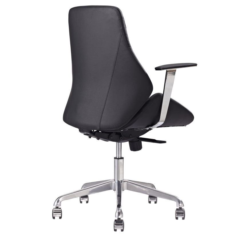 Natasha Black Leatherette Contemporary Office Chair