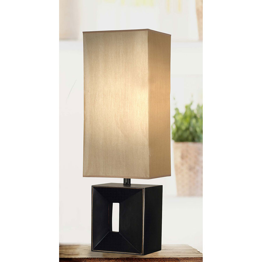 Niche Contemporary Amber and Bronze Table Lamp