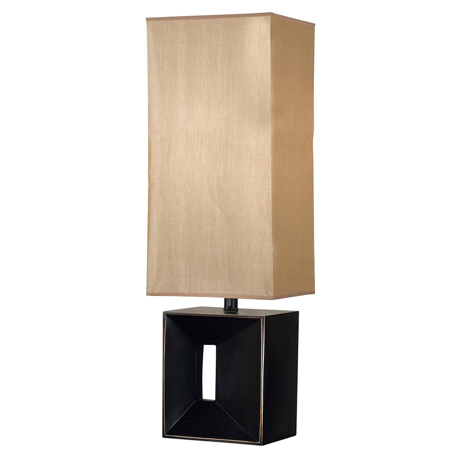 Niche Modern Amber and Bronze Table Lamp