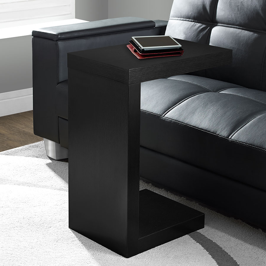 Nick Contemporary Black Accent Table
