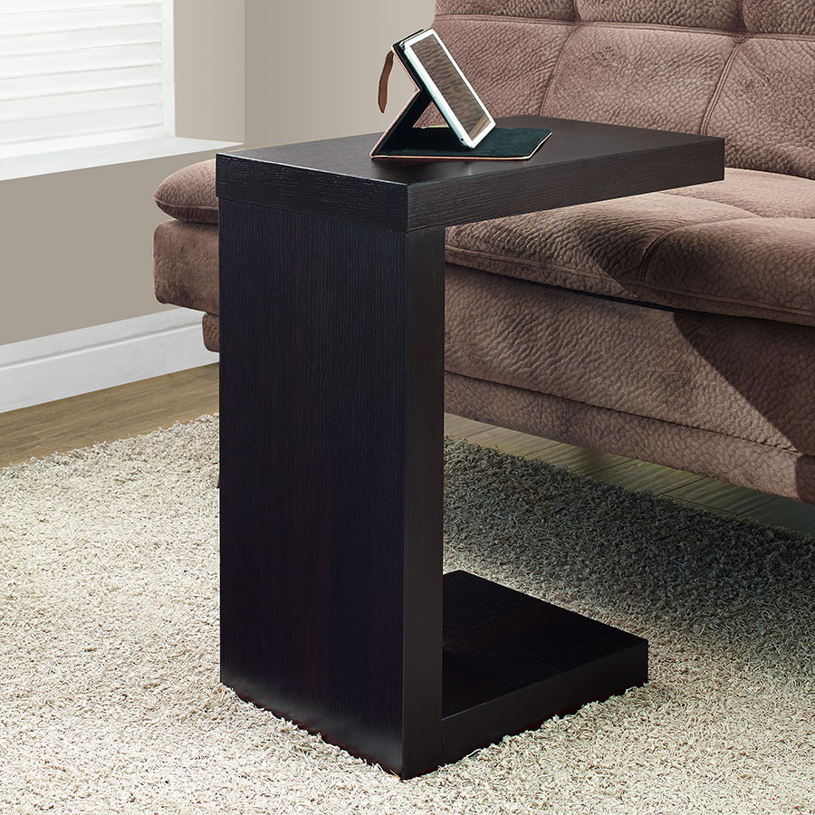 Nick Contemporary Cappuccino Accent Table