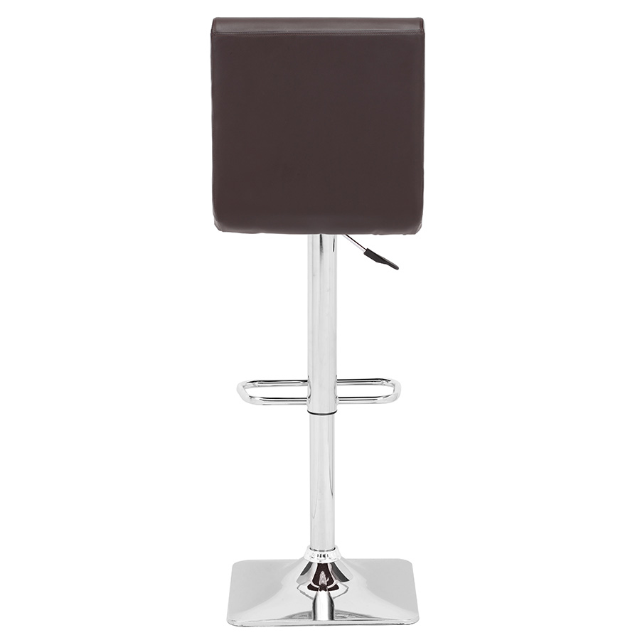 Nikko Modern Espresso Adjustable Stool - Back View