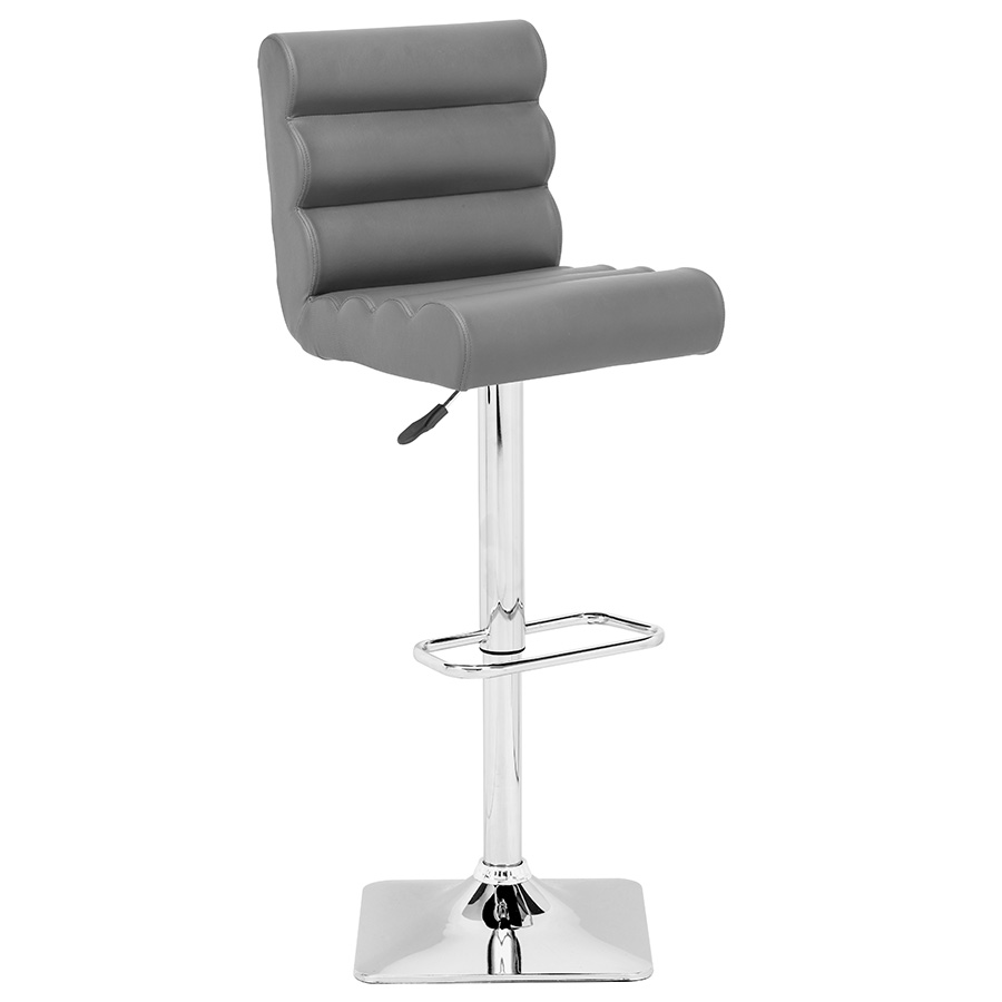 Nikko Modern Gray Adjustable Stool