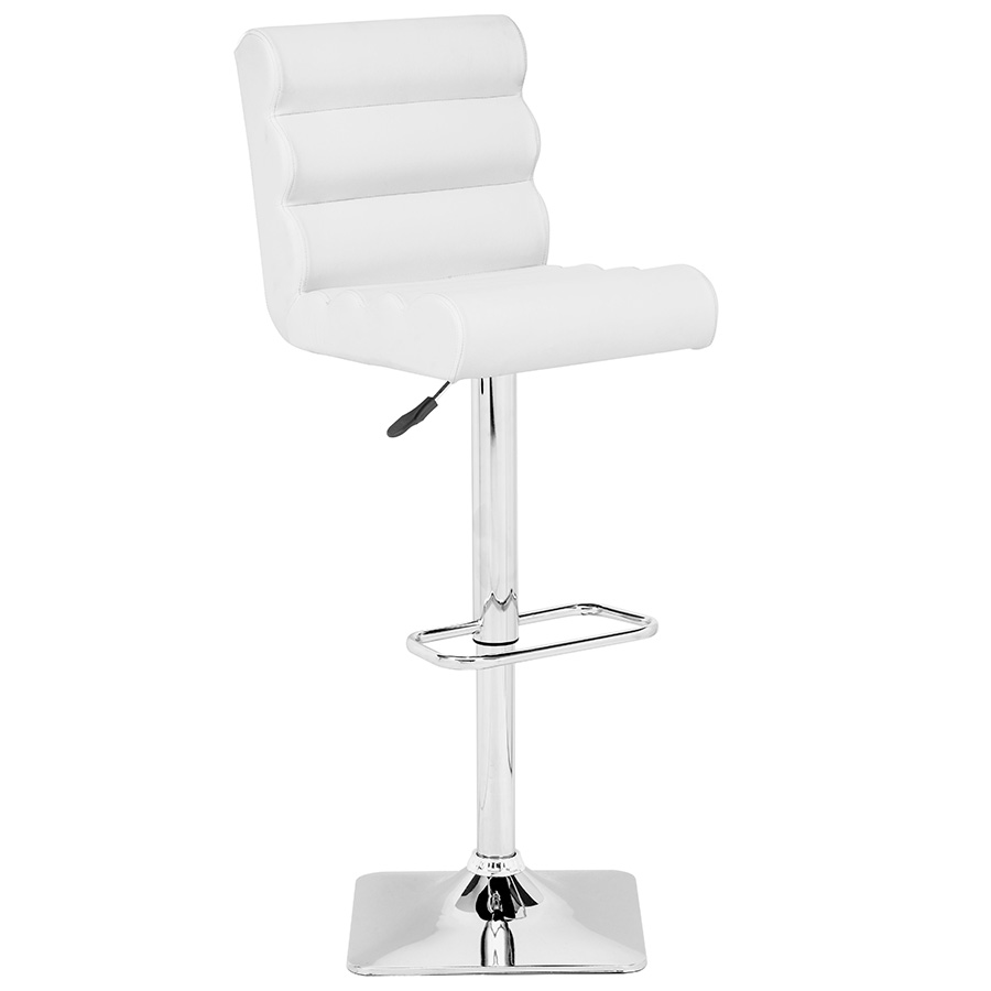 Nikko Modern White Adjustable Stool