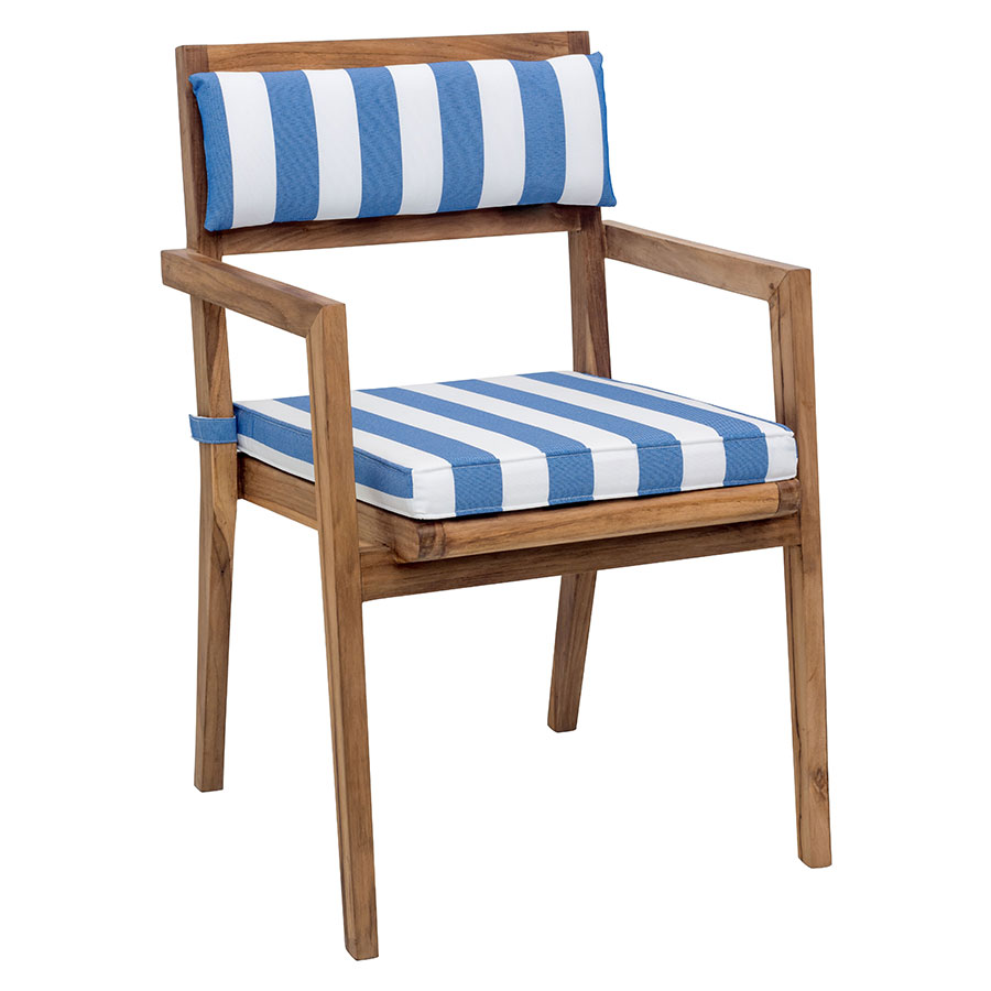 Nikolai Striped Modern Outdoor Dining Chair