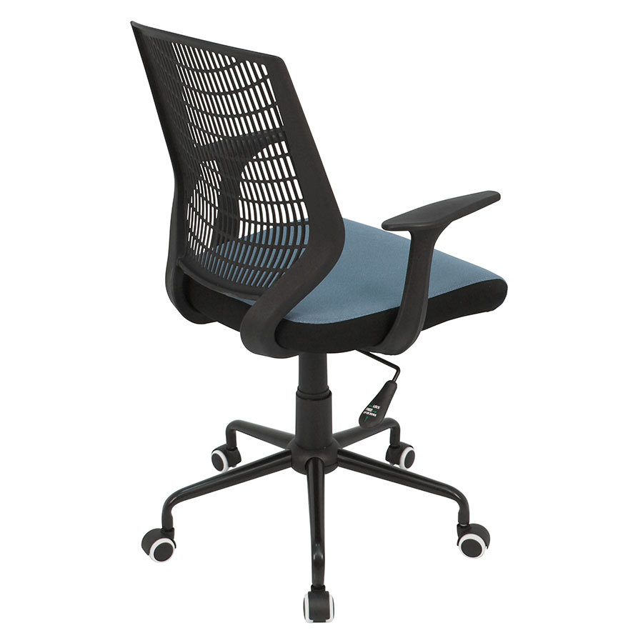Norfolk Black + Blue Mesh Contemporary Office Chair