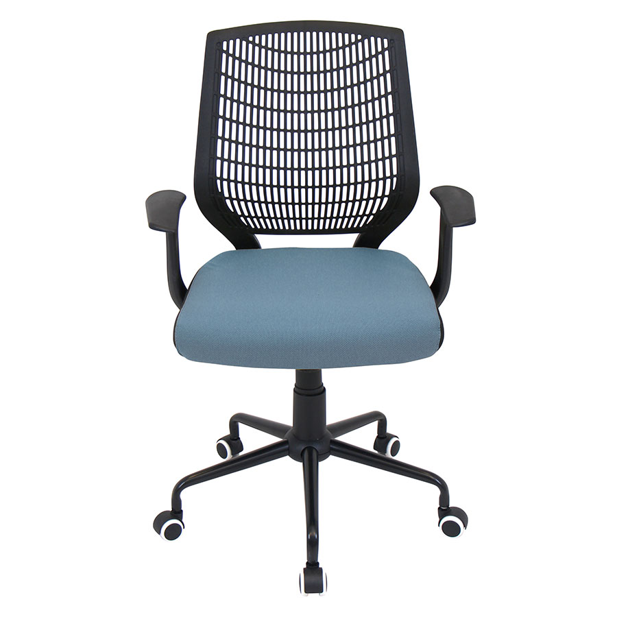 Norfolk Black + Blue Contemporary Office Chair