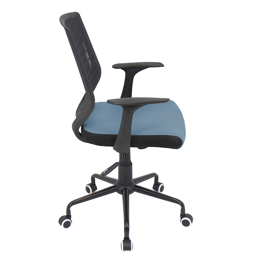 Norfolk Black + Blue Mesh Modern Office Chair