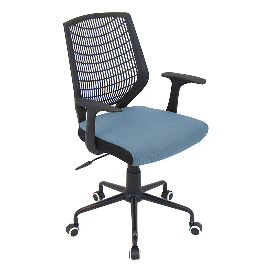 Norfolk Black + Blue Modern Office Chair