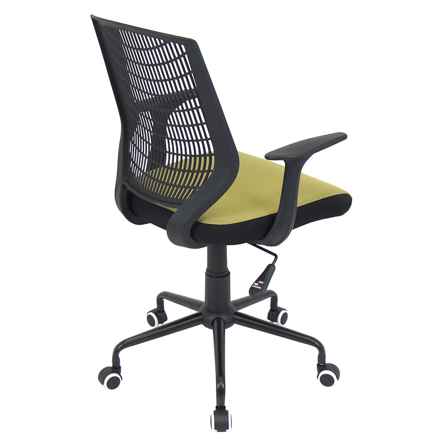 Norfolk Black + Green Mesh Contemporary Office Chair