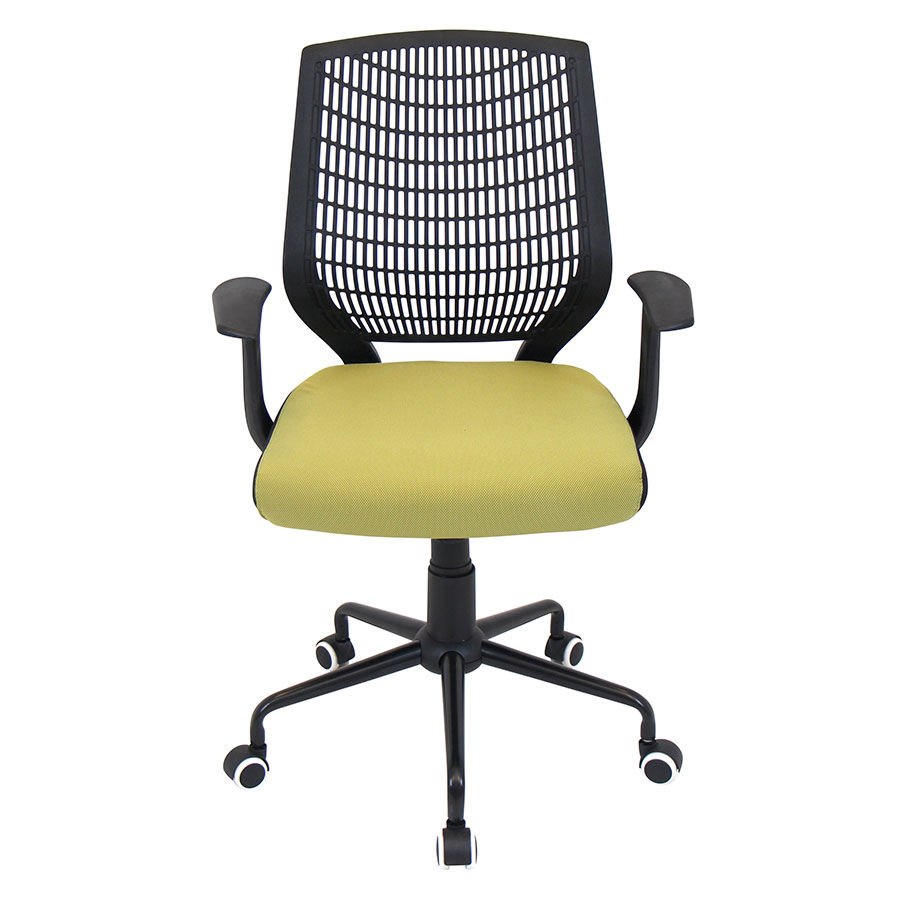 Norfolk Black + Green Contemporary Office Chair