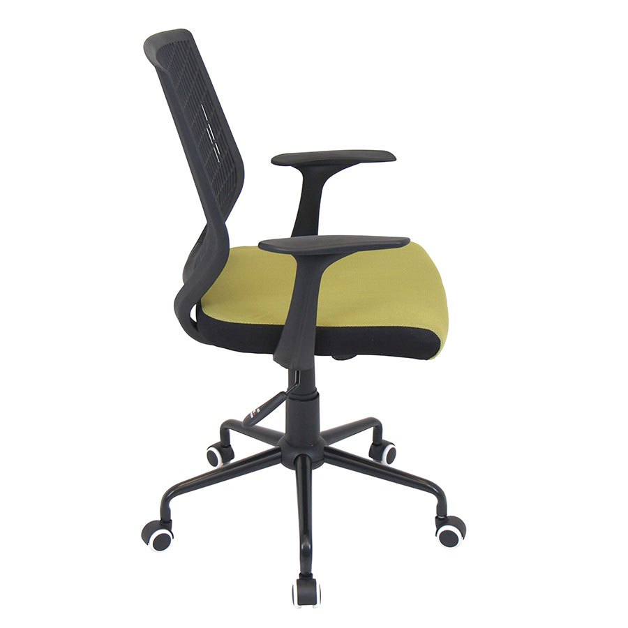 Norfolk Black + Green Mesh Modern Office Chair