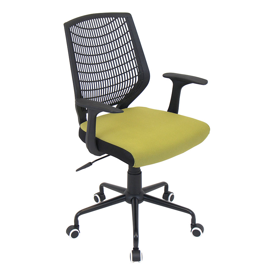 Norfolk Black + Green Modern Office Chair