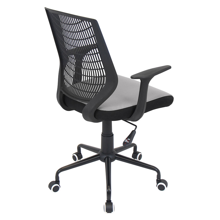 Norfolk Black + Silver Mesh Contemporary Office Chair