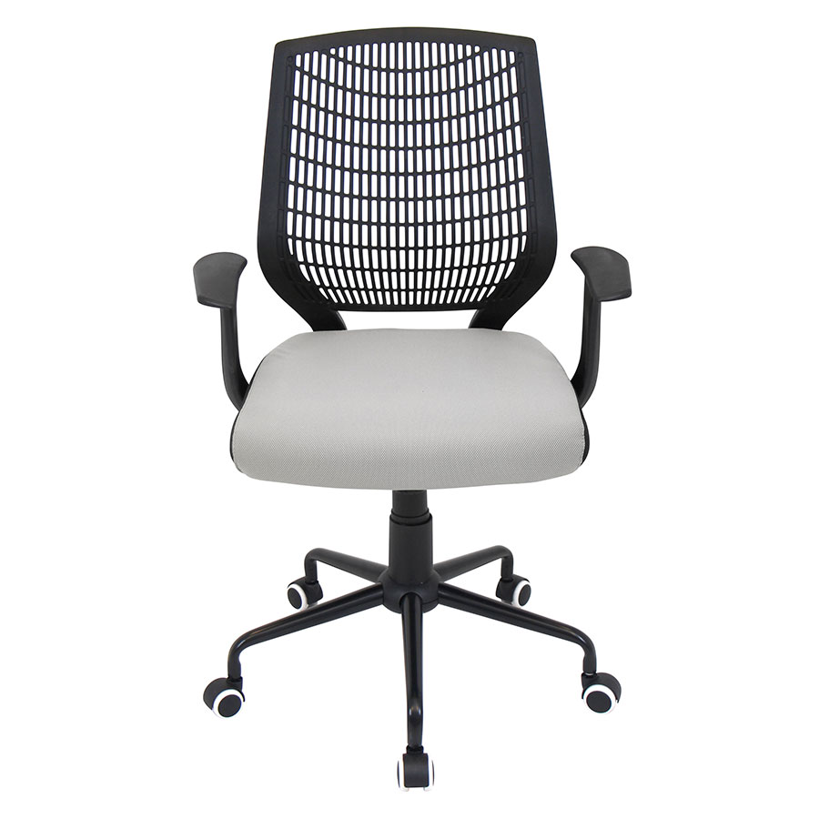 Norfolk Black + Silver Contemporary Office Chair