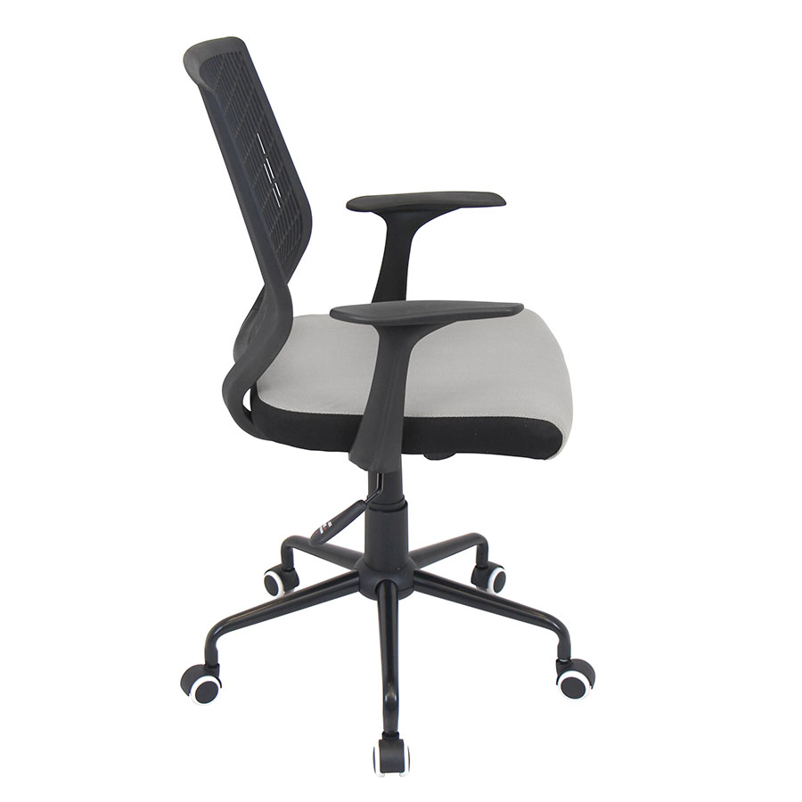 Norfolk Black + Silver Mesh Modern Office Chair