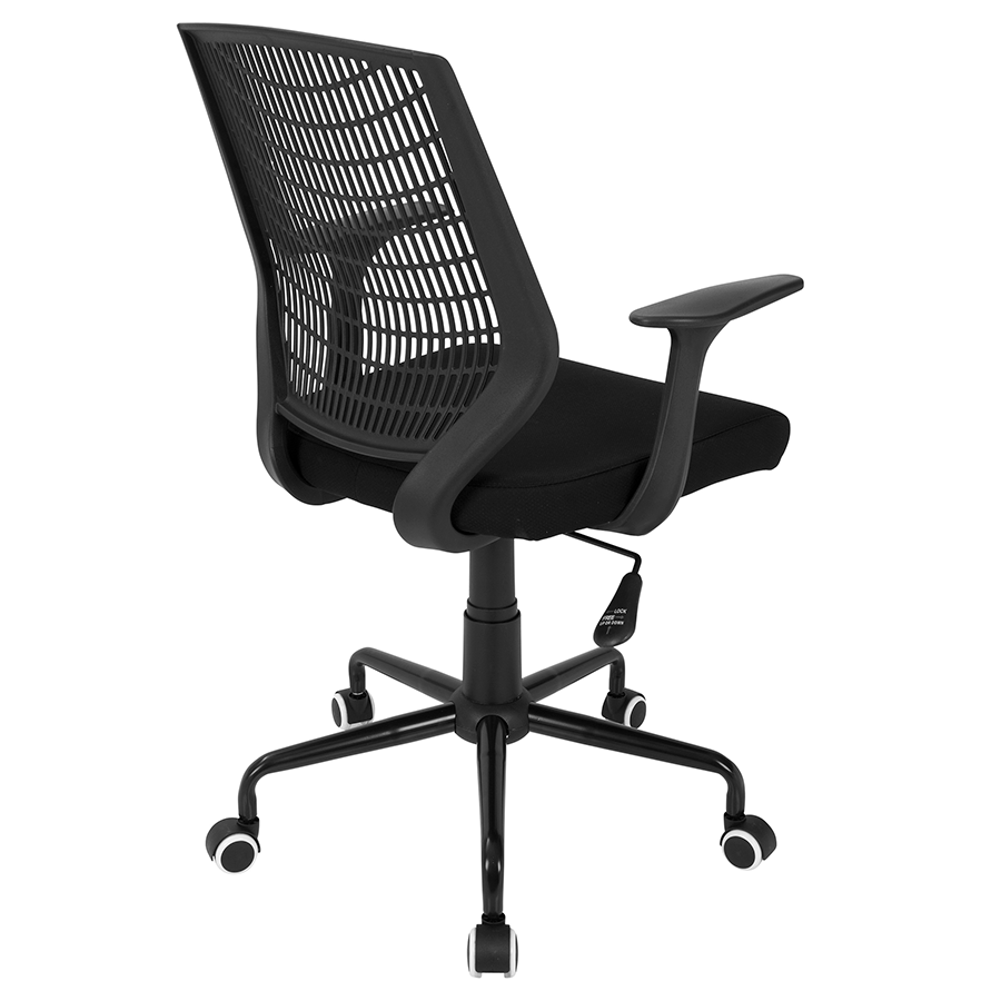 Norfolk Black Fabric Contemporary Office Chair