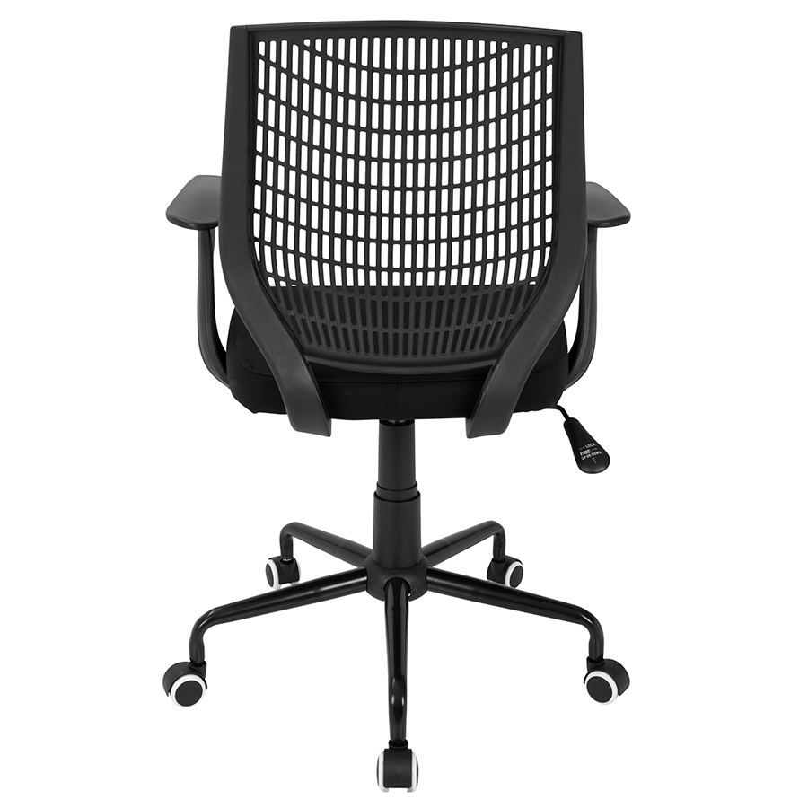 Norfolk Black Fabric + Plastic Modern Office Chair