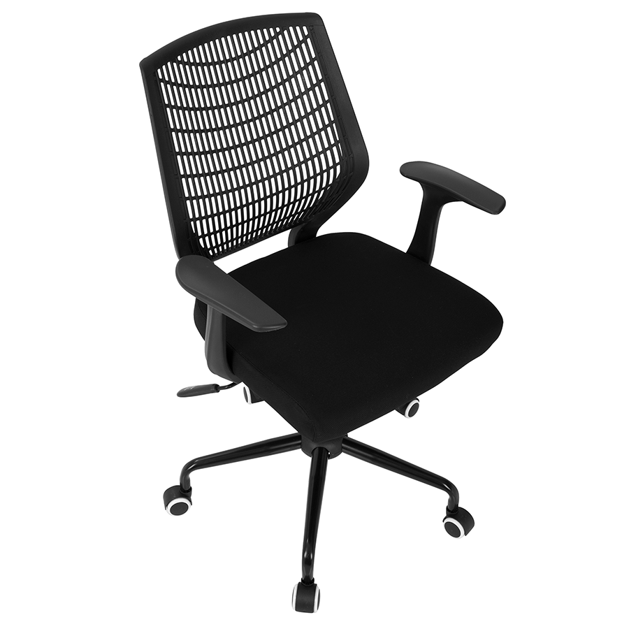Norfolk Black Fabric + Plastic Contemporary Office Chair