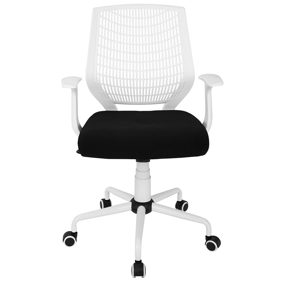 Norfolk White + Black Contemporary Office Chair